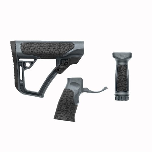 Stock Set w/Vertical & Foregrip Collapsible Mil-Spec Black