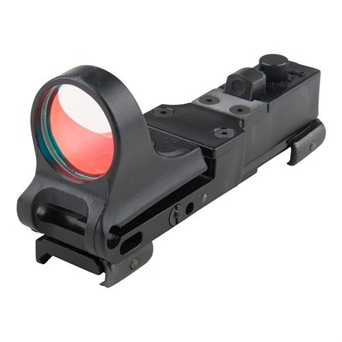Railway Polymer Red Dot Sight 8 MOA Click Switch Black