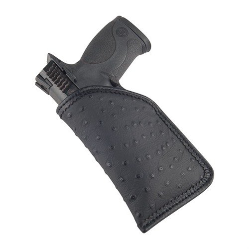 Black Embossed Diva Sleeve Holster, Large