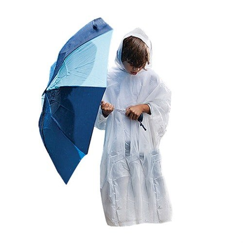 Youth Eva Rain Poncho, Clear