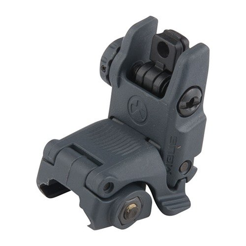 AR-15 Flip-Up MBUS Gen 2 Tactical Rear Sight Gray