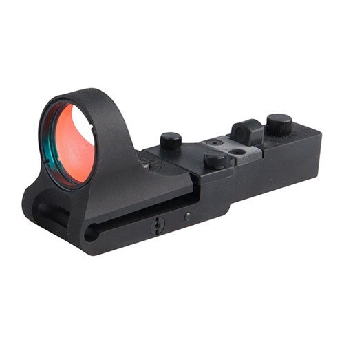 Aluminum SlideRide Red Dot Sight BLACK 6 MOA Click Switch