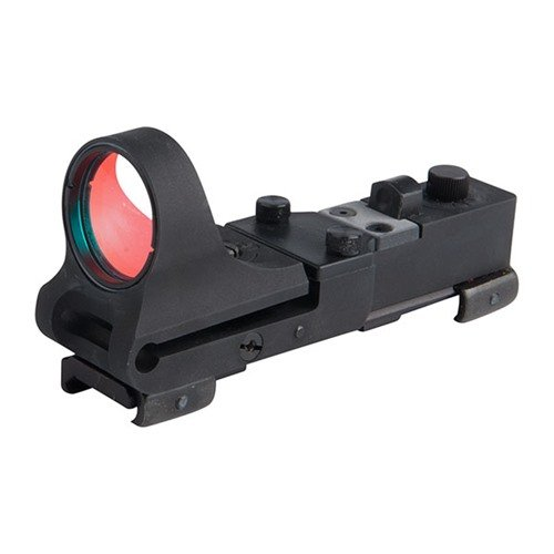 Aluminum Railway Red Dot Sight BLACK 8 MOA Click Switch