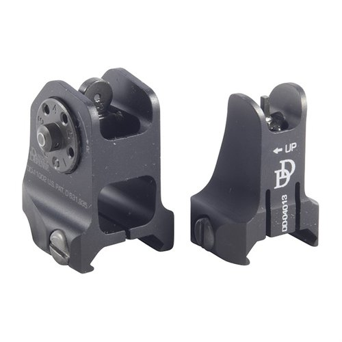 AR-15 Fixed Lightweight Sight Set Black