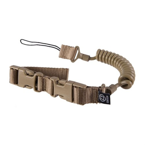 Tactical Retention Lanyard Pistol Leash-Khaki Tan
