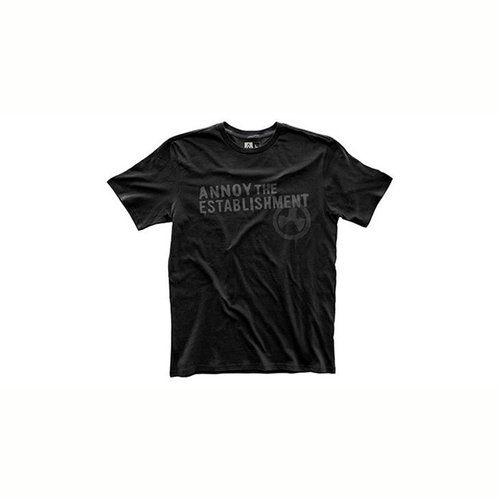 Fine Cotton Establish Annoyment T-Shirt Black Small