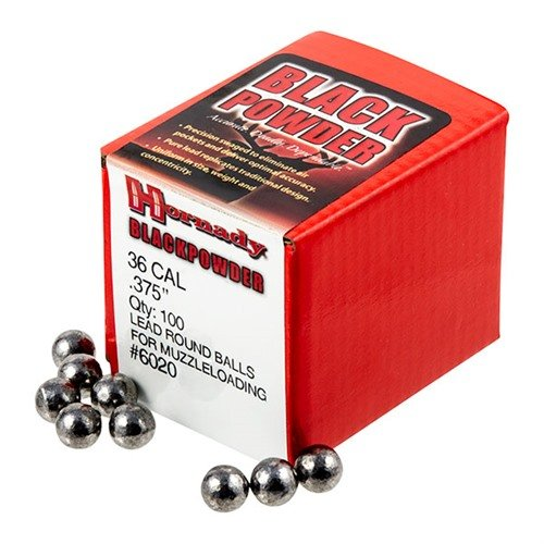 "36 Cal (.375"") Lead Round Ball 100/Box"