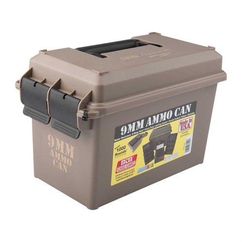 Ammo Can 9mm Polymer Tan