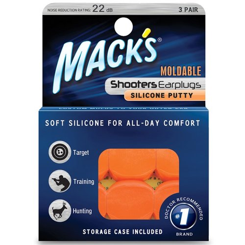 Orange moldable silicone putt - 3 pr